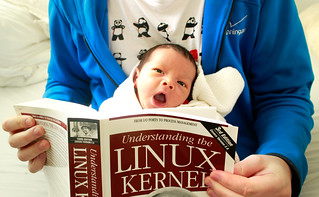 Reading for my new born kid