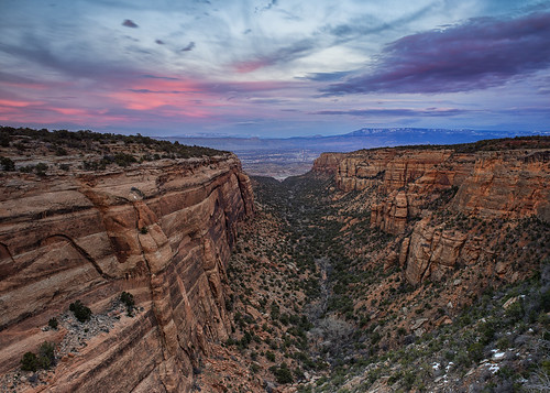 sunset colorado grandjunction redcanyon coloradonationalmonument
