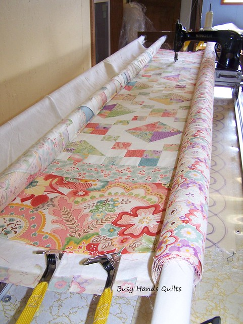 Custom Queen-Sized Jacob's Ladder Quilt in Moda Mimi