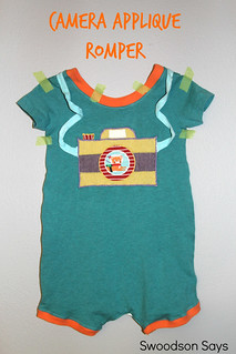 Camera Applique Romper 3 - Swoodson Says