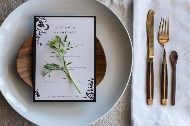 makr x local milk: d.i.y. menus & place cards