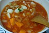 Rice cake tomato soup with potato, carrot, and mushroom by livibetter
