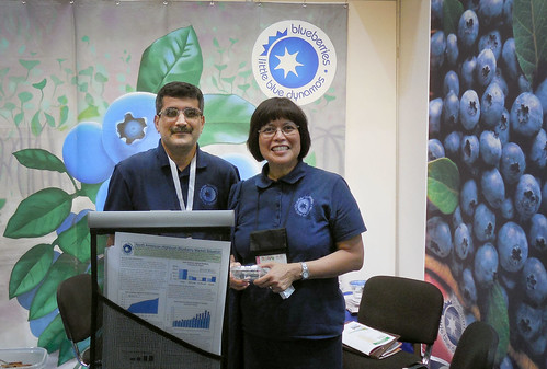U.S. Highbush Blueberry Council member Deborah Payne at the Gulfood 2014 trade show in Dubai, United Arab Emirates (UAE) federation.