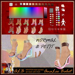 ALB KRISTEN heel sandals all with HUD normal & petit by AnaLee Balut