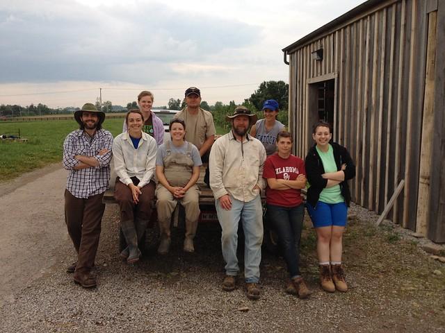 First CSA Harvest Thursday of 2014