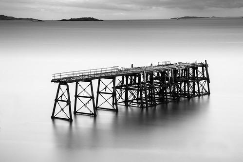longexposure bw monochrome canon mono scotland pier blackwhite waterfront fife nd northqueensferry waterscape 24105 fifecoastalpath fifecoast abandonedpier grantmorris grantmorrisphotography