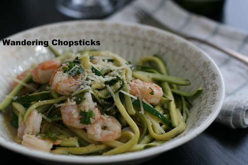 Shrimp Scampi Low Carb Zucchini Noodles 2