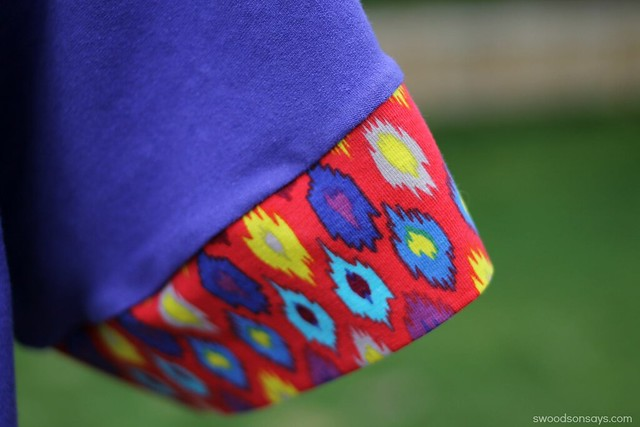 ikat fabric in jewel tones