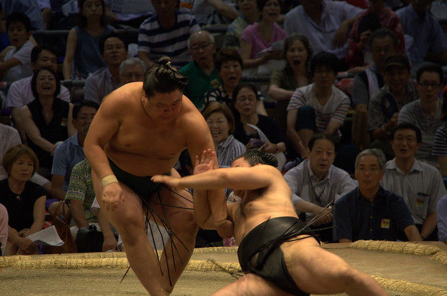 Sumo up close
