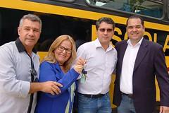 10 02 2017 - Entrega de Micro-ônibus escolar para Engenheiro Caldas, prefeito Juninho