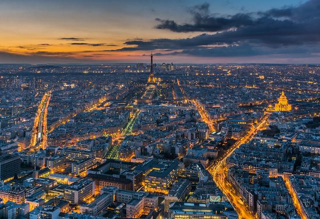 Montparnasse sunset