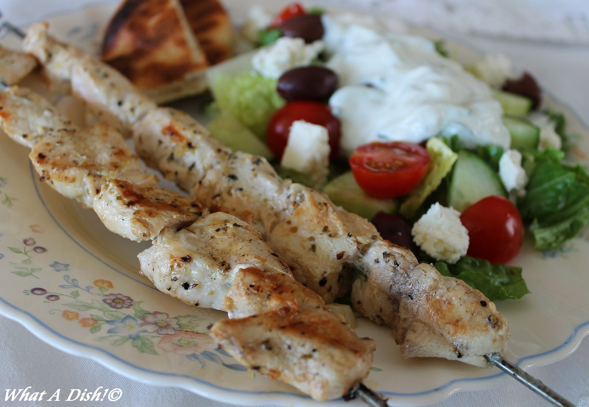 and chicken souvlaki chicken souvlaki chicken souvlaki and greek salad ...