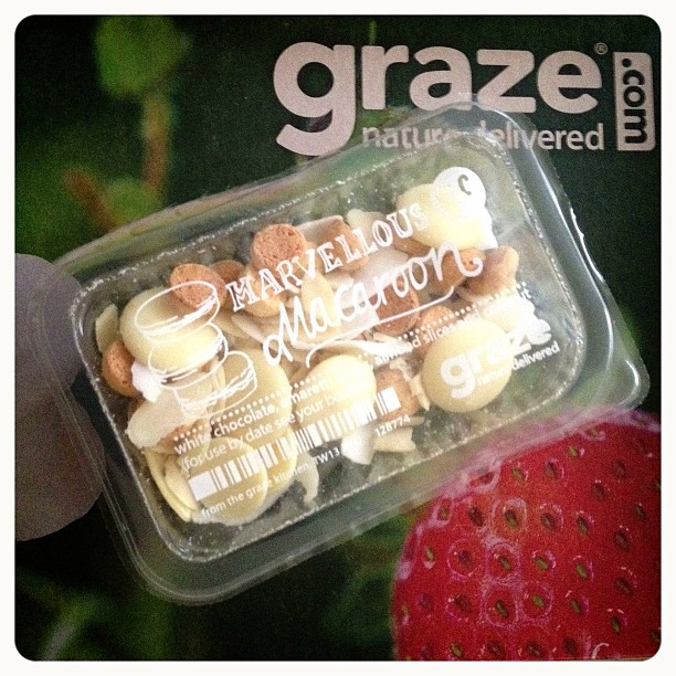 The closest I'll get to a macroon #graze #box #grazebox #macroon #snack #ihopeittastesgood