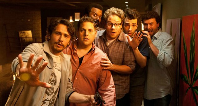 James Franco, Jonah Hill, Craig Robinson, Seth Rigen, Jay Baruchel and Danny McBride fight for their lives in THIS IS THE END.