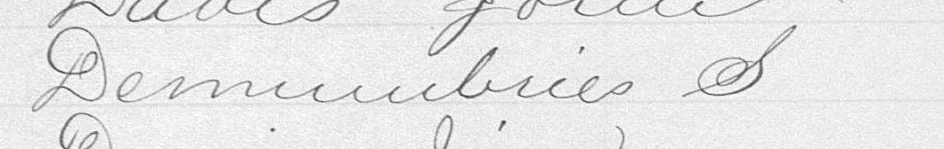 1874 Spencer DeMumbrie