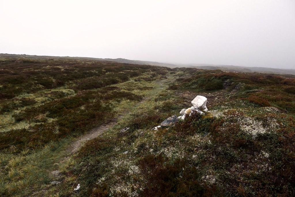 Cairn on the Minigaig Pass