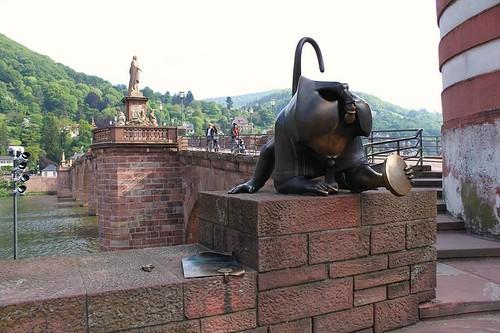 Heidelberg Bridge Brückenaffe