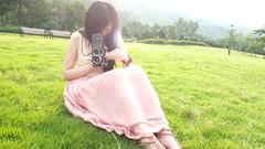 【夏天.草地.草帽】