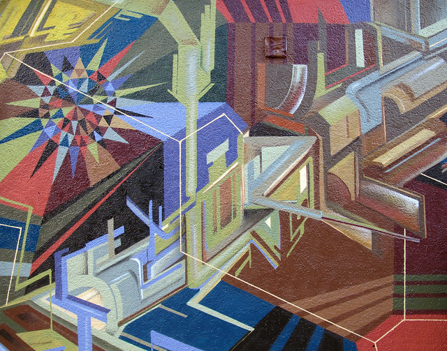 An Abstract Dialog : Mural Details.
