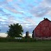 Small photo of Iowan Barn at Dusk