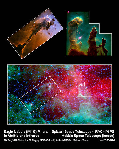 Infrared Pillars of Creation, NASA Spitzer