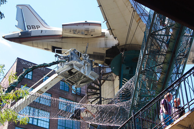 City Museum, St. Louis: suspended airplane