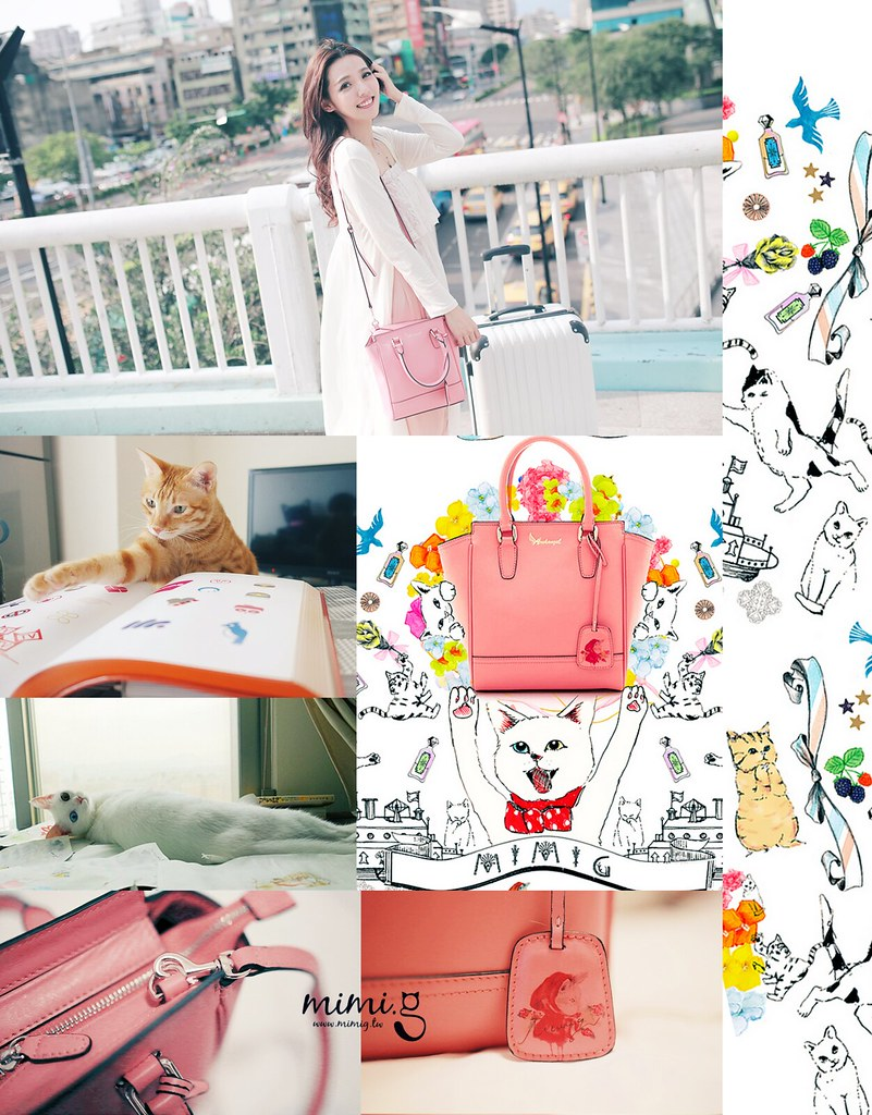 [穿搭] 小秘密。搶先曝光的貓咪設計款真皮兒小方包