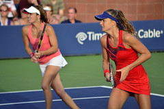 2013 US Open (Tennis) - Daniela Hantuchova and Martina Hingis