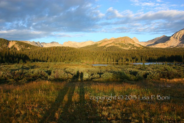 Brainard Lake & Indian Peaks with shadows