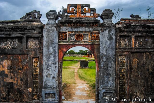 Cidadel Hue Vietnam Doorway