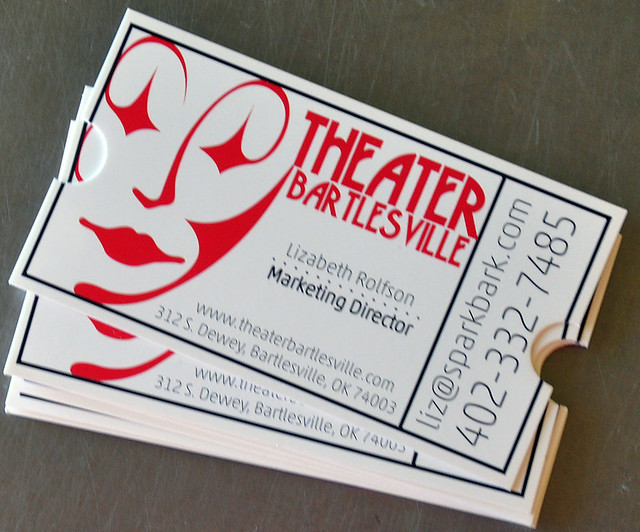 what i designed today ticket business cards for theater bartlesville