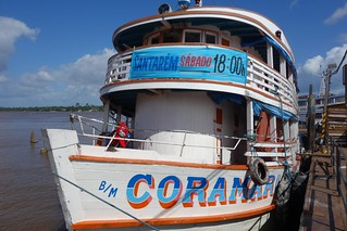Barco desde Santana até Santarém no Rio Amazonas Brasil