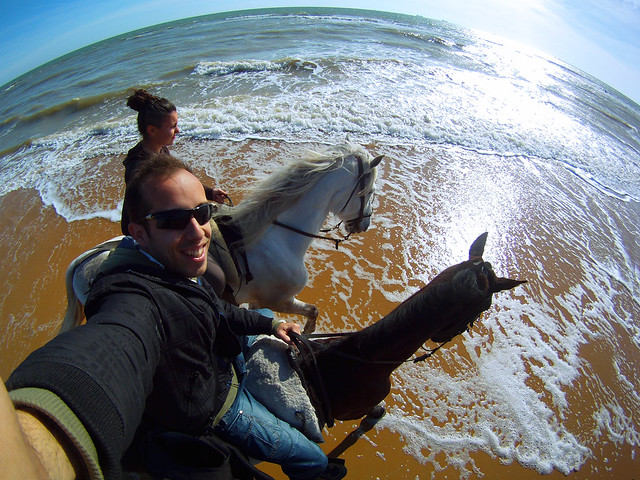 A caballo por la playa en Doñana