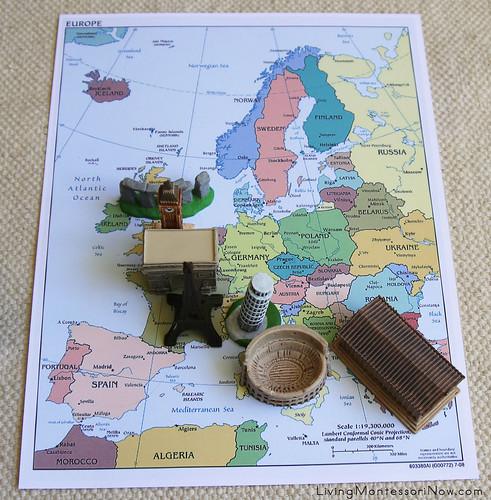 7 Landmarks on Political Map of Europe