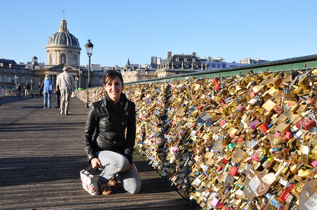 Padlocks on Pont des Arts bridge in Paris