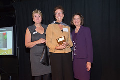 2013 Hero of the Homeless, Surrey Library, City Centre Library, represented by April Cox with Vera LeFranc and Cllr Judy Villeneuve.