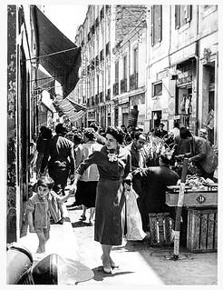 Rue de Basile 1956 à Oran, Algérie -Photo JP Vasse (Retina Kodak)