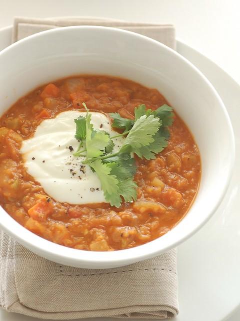 Zuppa di Miglio e Lenticchie Rosse Bimby