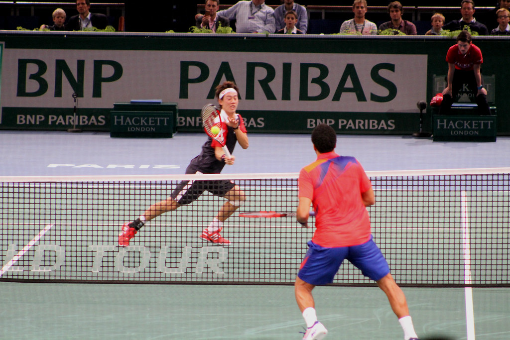 Nishikori and Tsonga