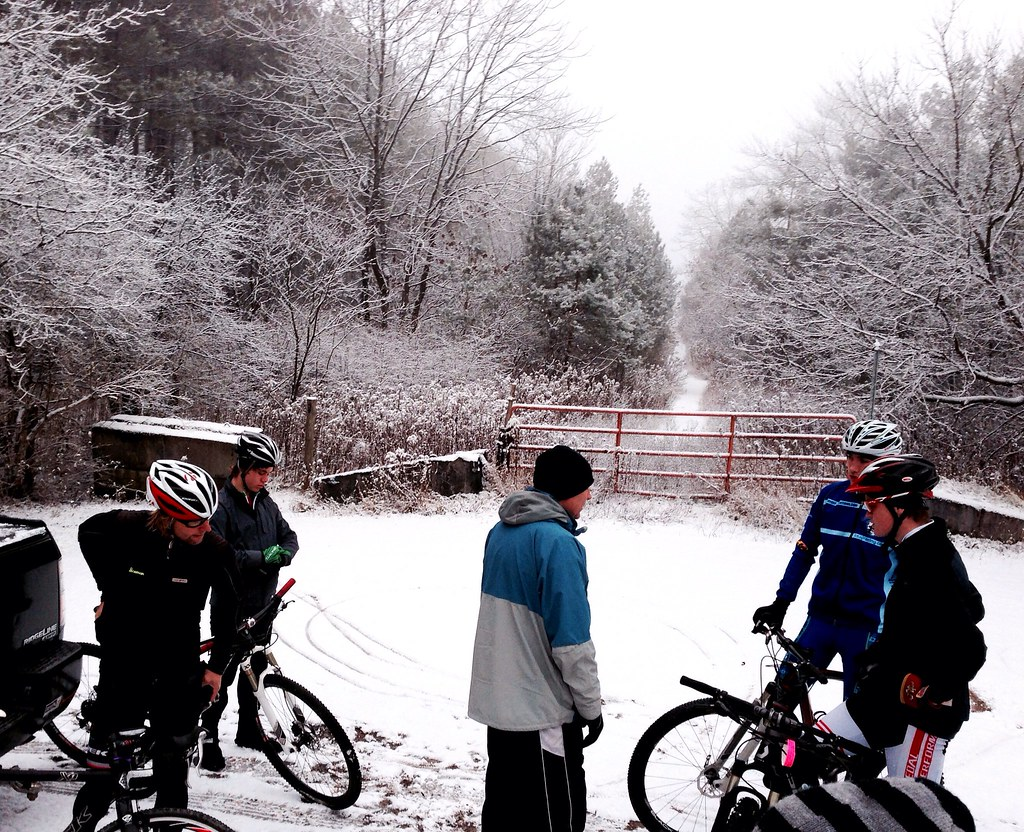 Getting ready for a snowy group ride!