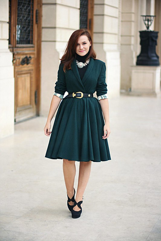 emerald green coat 1