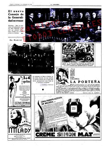 La Vanguardia, suplemento gráfico 1 de diciembre de 1935. Foto superior: Agustí Centelles by Octavi Centelles