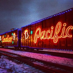 CP Holiday Train in the Rain