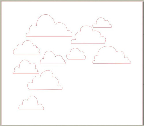 a variety of clouds - free Silhouette cut file