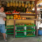 Friendly Vendor at Fruit Stand in Dominical, Costa Rica
