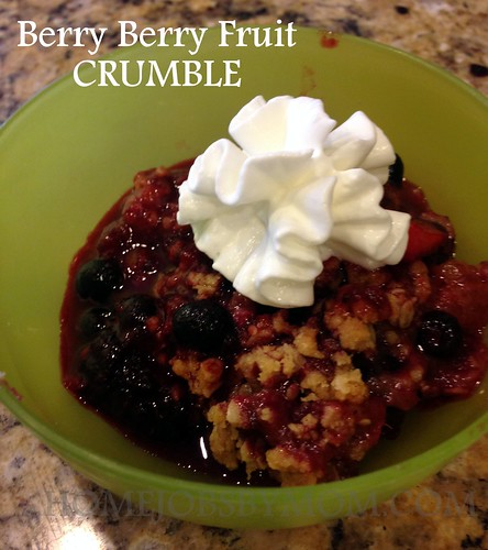 Being Carton Smart + Berry Berry Fruit Crumble Recipe