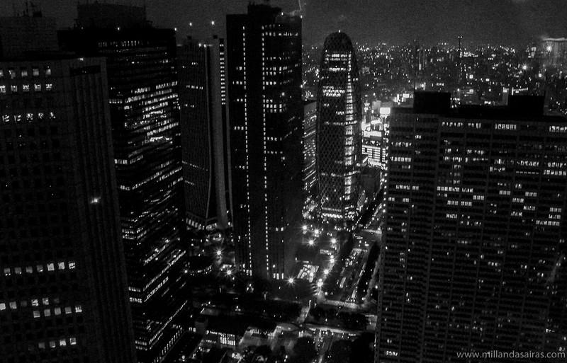 Vistas desde el edificio metropolitano de Tokio