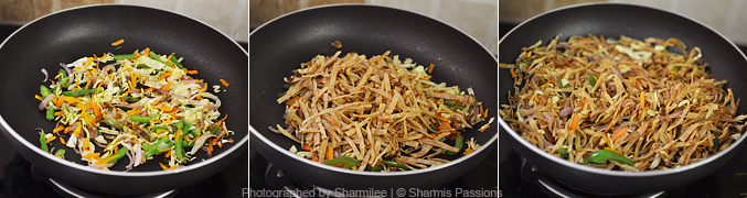 How to make chapati noodles - Step4