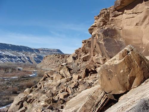 escalantecanyon colorado deltacounty petroglyphs railroad gunnisonriver rockart