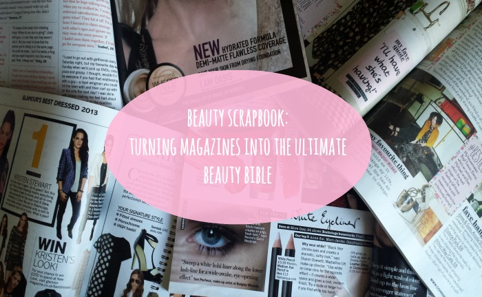 Beauty Magazine Scrapbook